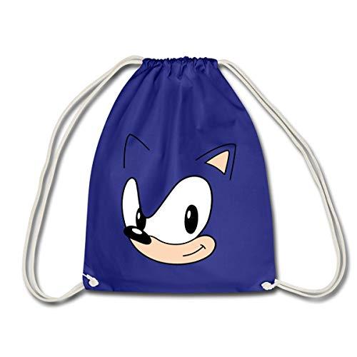 Spreadshirt Sonic The Hedgehog Sonic Kostüm Turnbeutel, Königsblau