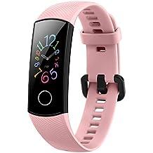 Honor Band 5 wasserdichter Bluetooth Fitness-/Aktivity-Tracker mit Herzfrequenzmesser, AMOLED-Farbdisplay, Touchscreen, Coral Pink