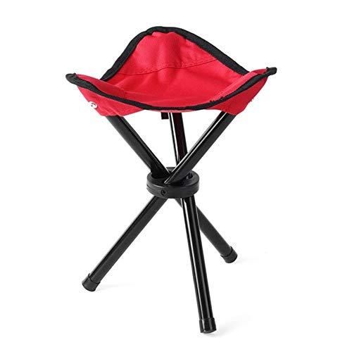 Outdoor Angeln Stuhl Tragbare Stativ Hocker Klappstuhl Camping Wandern Picknick Garten Faltbare DREI Fuß Strandkorb Klein, Rot