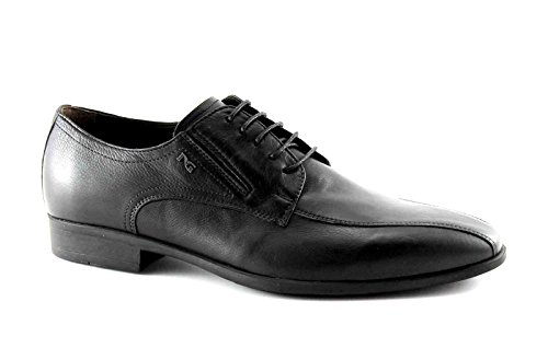 NERO GIARDINI 4551 nero scarpe uomo eleganti cerimonia derby 44