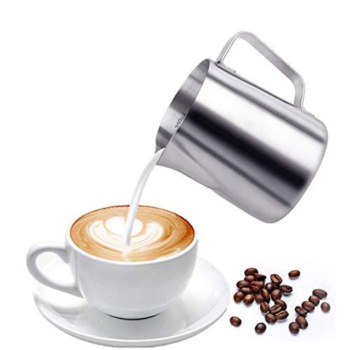 Imucci 340,2gram 30418/8bricco da latte in acciaio INOX–a ghirlanda con misurazione marcatura per latte tè, caffè e latte Art Milkpitcher
