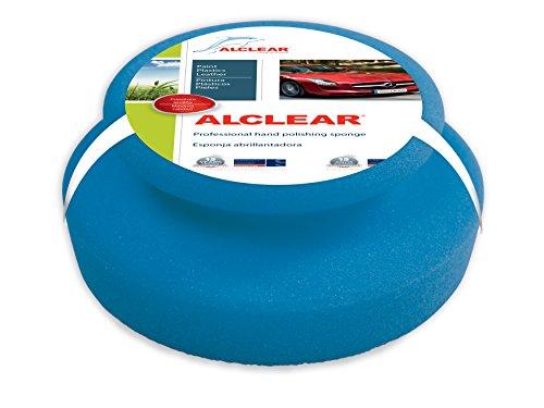 ALCLEAR profi handpolierschwamm 130 x 50 mm avec joint poignée pour les cires, les produits lackreiniger, bleu