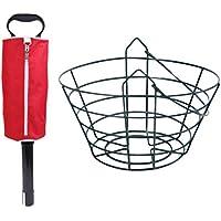 IPOTCH Shag Bag Práctico y Alcance de Bola de Golf Perro Perdiguero de Shagger con 30 Bolas de Metal Contenedor Verde