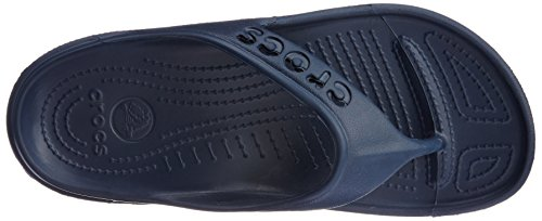 Crocs Baya Flip, Unisex-Erwachsene Zehentrenner Sandalen, Blau (Navy)