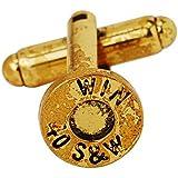 10pcs 10mm Shell, Gemelos con botones de bala, bicolor cufflinks. para joyería Making