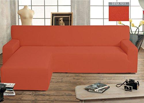 Biancheriaweb copridivano genius con penisola chaise longue modello swing colore siena sinistra siena