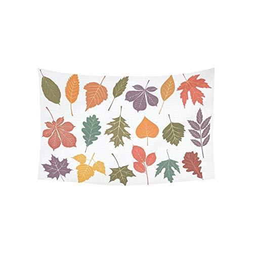 LMFshop Tapisserie Set 19 Blätter Herbst Farben Wandteppiche Wandbehang Blume psychedelischen Wandteppich Wandbehang indischen Wohnheim Dekor für Wohnzimmer Schlafzimmer 60 X 40 Zoll