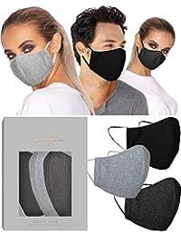 VIRTUE CODE Masque en tissu 3 masques gris clair gris foncé noir
