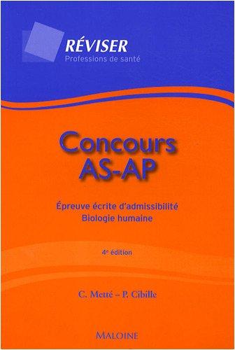 Concours AS-AP : Epreuve écrite d'admissibilité - Biologie humaine