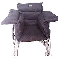 CCWA Komfort-Rollstuhlkissen, Rollstuhlsitzkissen, Total-Rollstuhlkissen, Verstellbares Oder Stuhlkissen, Schwarz