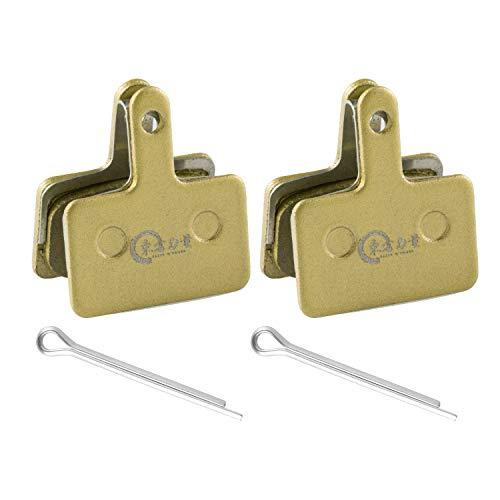 EASTERN POWER Pastiglie Freni Semi-Metalliche per Shimano Deore B01S 2 Paia e Tektro Pastiglie Freno a Disco MTB, 2 P