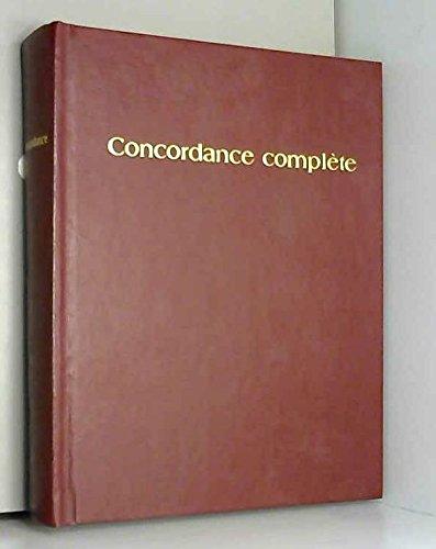 Concordance complète des saintes Écritures : Traduction du Monde nouveau