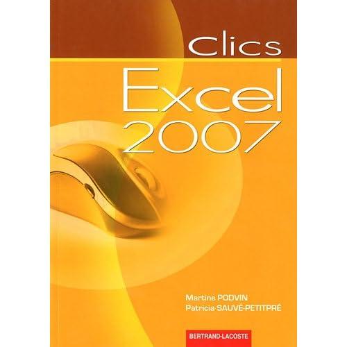 Clics excel 2007
