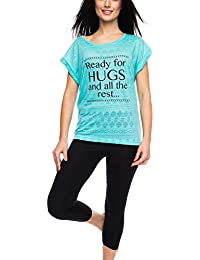 c426519254 Rossli SAL-PY 1065 women s pyjama set aztec patterned t-shirt 3 4