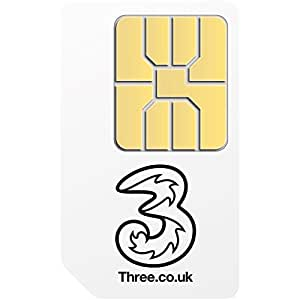 Three Mobile Broadband Ready to Go1GB Preloaded Data StandardSIM for3G Tablets