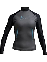 Aqua Sphere Damen Aqua Skin Long Sleeve Top Small Black/Aqua