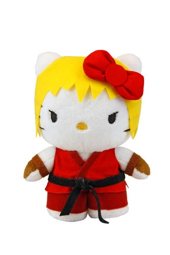 Hello Kitty - Toynami Street Fighter X Sanrio Ken Plush - 15cm 6""