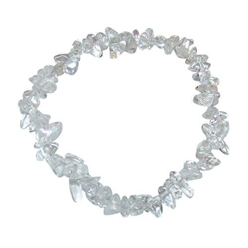 Bergkristall Splitter Armband auf elastischem Band aufgezogen.(3637)