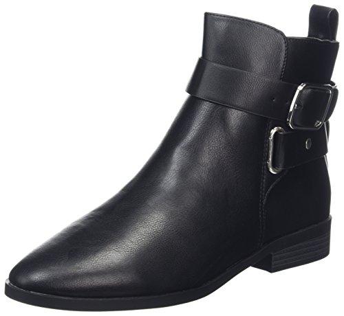 New Look Damen Wide Foot Chrome Stiefel, Schwarz, 38 EU -