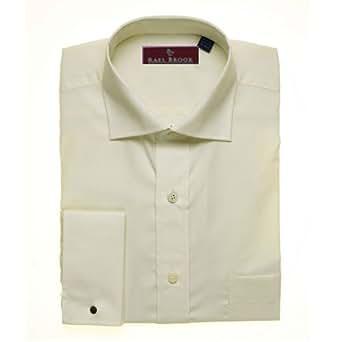 Rael Brook Classic Ecru Cream Double Cuff Shirt in Presentation Box Size 18