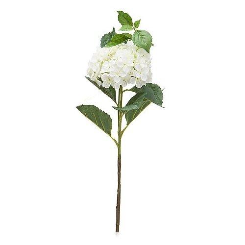 Online-Fuchs Dekorative Kunstblumen - Hortensien, Rosen, Lilien, Lavendel - Blumenstrauß Selber Zusammen Stellen (Hortensie Creme)