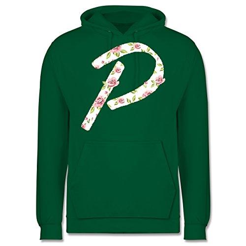 Anfangsbuchstaben - P Rosen - Männer Premium Kapuzenpullover / Hoodie Grün