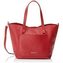 Tous Mossaic Pequeño, Bolso Totes para Mujer, Rojo (Red), 17x19x20 cm (W x H x L)