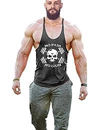 Cabeen No Pain No Gain Tirantes Culturismo Camiseta de Fitness Hombre Deportiva Tank Top