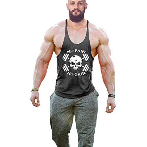 Cabeen Uomo No Pain No Gain Canotterie per Bodybuilding per Allenamento Muscoli Tank Top