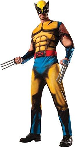 X-Men Wolverine Comic Deluxe Muscle Erwachsene Kostüm