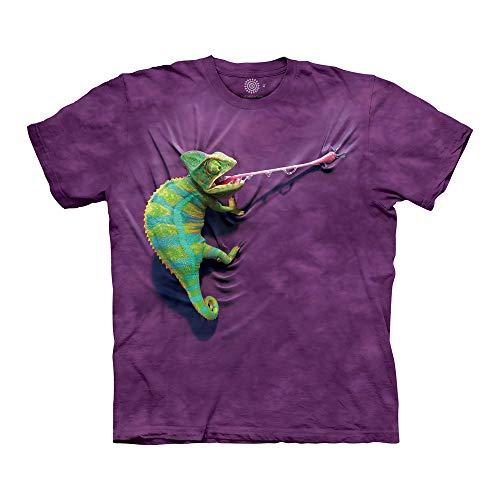 The Mountain Unisex-Erwachsene Climbing Chameleon T-Shirt, violett, 4X-Groß
