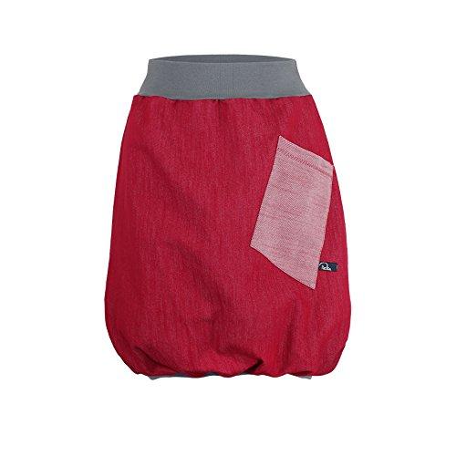 Ballonrock PAULIZ - roter Damen Ballonrock aus Jeans