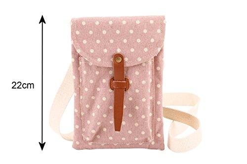 Polka dot tela come borsa a tracolla Materiale - Colore d. Borsa a tracolla D