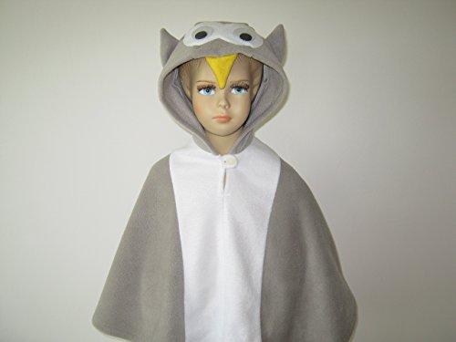 fasching karneval halloween kostüm cape für kleinkinder eule -