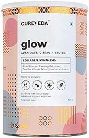 Cureveda Plant Based Collagen Builder Glow Powder for Women & Men Skin & Hair Anti-aging Supplement Be