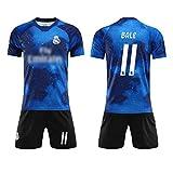 HWHS316 Maglia da Calcio Sports Club Jersey 11Th Gareth Bale Football Abbigliamento Sportivo per Adulti E Bambini Football Boy T-Shirt Cielo Stellato Edizione Commemorativa,XL180~185CM