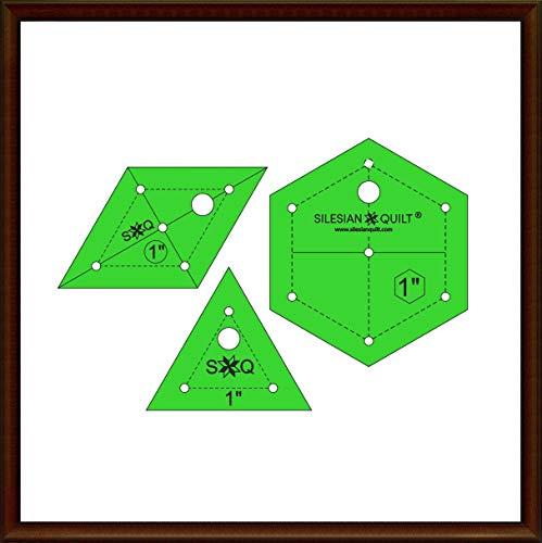 Silesian Quilt Vorlage für Patchwork Set Hexagon, Diamant, Dreieck 1 Zoll - Quilt-set