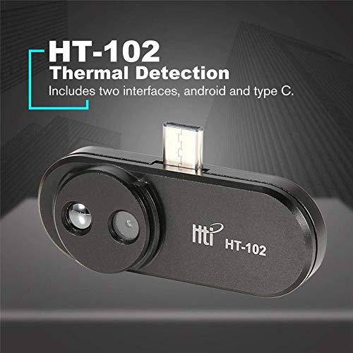 Wärmebildkamera HT-102 Wärmebildkamera-Handheld-Mobiltelefon Infrarot-Wärmebildkamera-Unterstützung Video- und Bildaufzeichnung Gesichtserkennung Wärmekamera Für Android