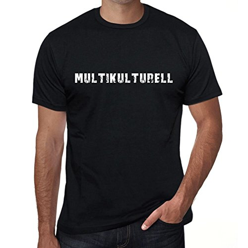 multikulturell Herren T-Shirt Schwarz Geburtstag Geschenk 00548