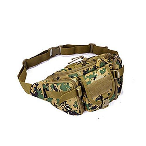 YAAGLE Armee Fans Outdoor Herren militärisch Brustbeutel wasserdicht Freizeit Hüfttasche Kuriertasche Reisetasche Fahrradrucksack Schultertasche -Tarnung 2 Tarnung 2
