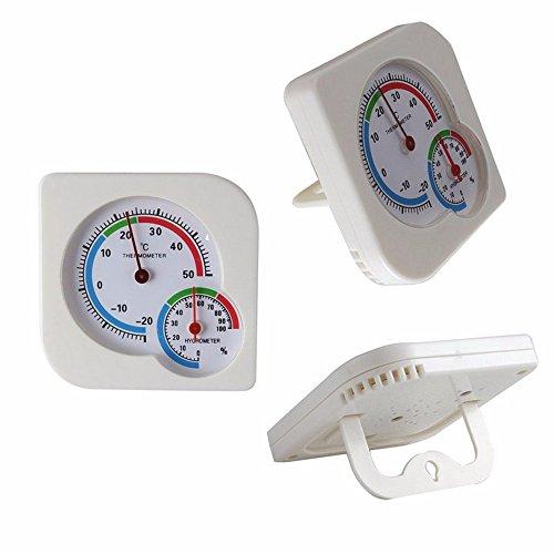 GAOHOU® LCD Digital Hygrometer Temperatur Feuchtigkeitsmesser Wetterstation Weiß