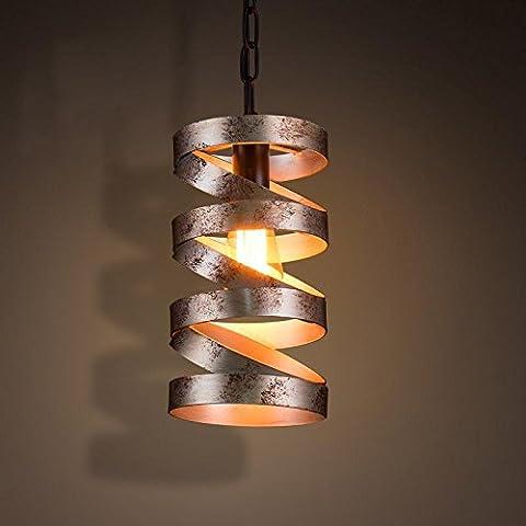 SSBY New American industrial lampadario vintage scale di ferro balcone cerchio personalità luci Cafe negozio di abbigliamento luci decorative 160*285mm