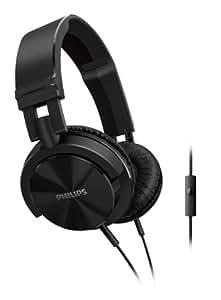 Philips SHL3005/00 Casque à arceau ultra léger avec coques pliables et avec microphone et télécommande Noir