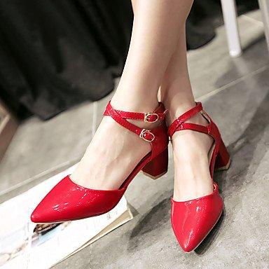 LvYuan Da donna-Sandali-Ufficio e lavoro Casual Serata e festa-Altro-Quadrato-Vernice-Verde Rosa Rosso Bianco White