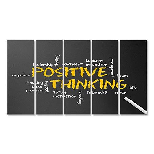 Cuadro Cuadros El pensamiento positivo motivación Ilustración Impresión sobre lienzo - Formato Grande - Cuadros modernos