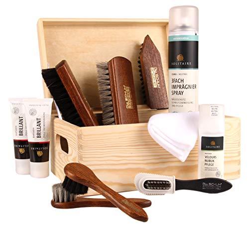 Die Schuhanzieher Die Schuhanzieher Schuhputzkiste Schuhputzkasten Holzkiste gefüllt Schuhpflege Standard z2211