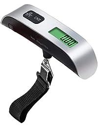 zNLIgHT Báscula de equipaje digital electrónica de viaje, portátil, tamaño pequeño, 110 libras