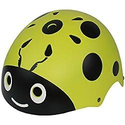 YHJNBGH Acogedor Casco de la Mariquita de los Niños Casco Lindo de la Bici de la Calle Casco del Montar a Caballo de la Historieta Casco del Patín (Amarillo)