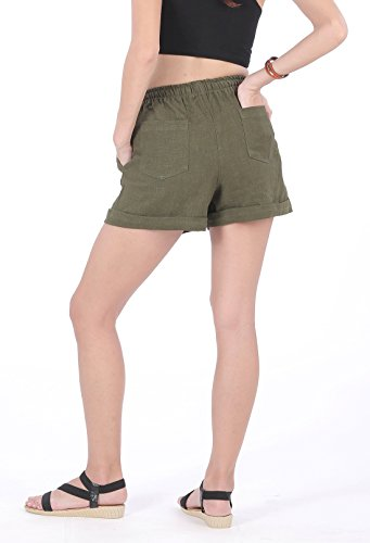 CandyHusky - Short - Femme vert olive foncé