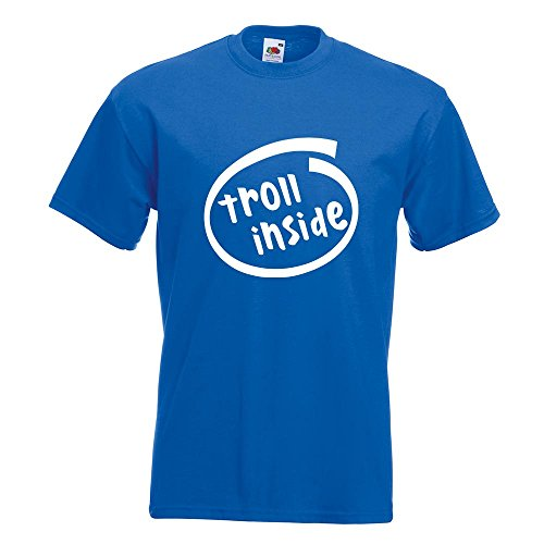 KIWISTAR - troll inside T-Shirt in 15 verschiedenen Farben - Herren Funshirt bedruckt Design Sprüche Spruch Motive Oberteil Baumwolle Print Größe S M L XL XXL Royal